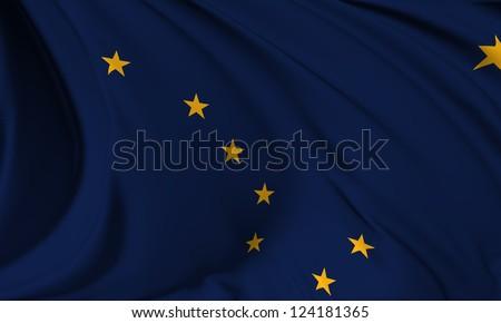 Alaska flag - USA state flags collection no_3 - stock photo
