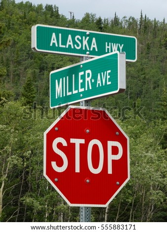 Alaska highway street sign