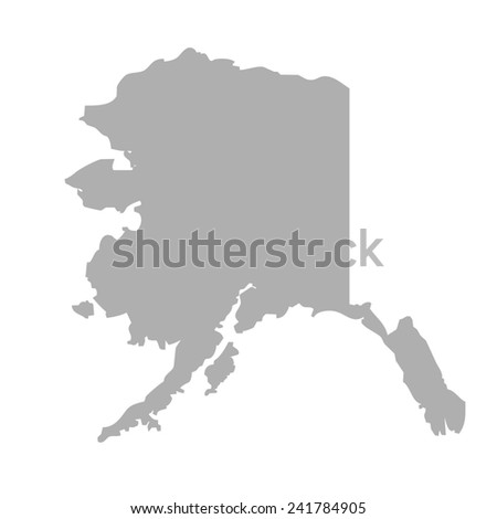 Alaska map isolated on a white background, U.S.A. - stock photo