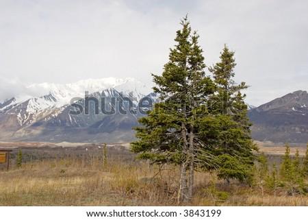Alaska mountain range - stock photo