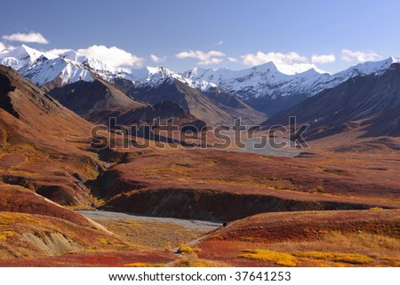 Alaska Range in Denali - stock photo