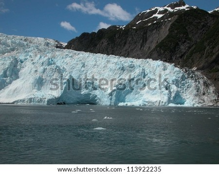 Alaska's Holgate Glacier is located in Kenai Fjords National Park.