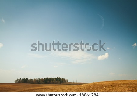 Alaska woods and hills - stock photo