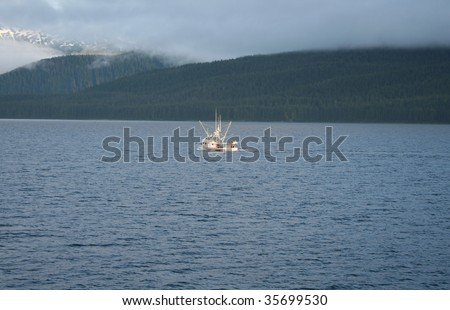 Alaskan commercial salmon fishing boat
