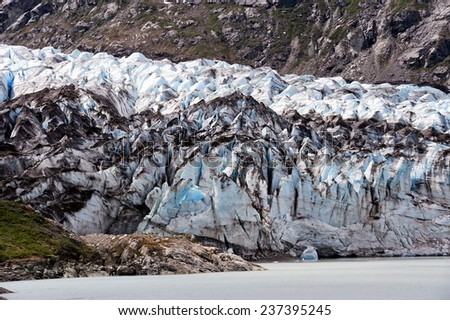 Alaskan Glacier - stock photo