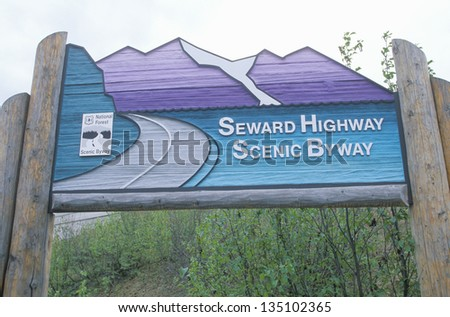 Alaskan highway sign