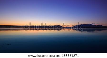 Alaskan lake - stock photo