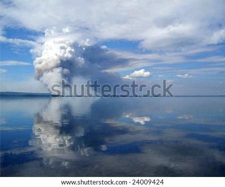 Alaskan Wildfire - stock photo