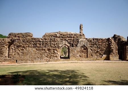 Alauddin Khilji's Tomb at Qutub Complex, New Delhi - stock photo