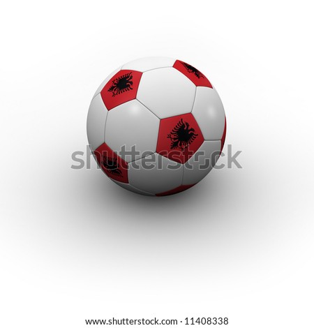 Albanian Soccer Ball - very highly detailed Albanian soccer ball with shadow