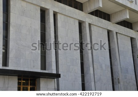 ALBANY, NY - MAY 11: Legislative Building in Albany, New York, as seen on May 11, 2014. Albany is the capital of the US state of New York and the seat of Albany County. - stock photo