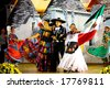 ALBEROBELLO, ITALY - 2, AUGUST 2008: Mexican Dancers at the International Folklore Festival in Alberobello, Italy, in August, 2008. These dancers belong to the Ballet Ateneo Fuente, Mexico. - stock photo