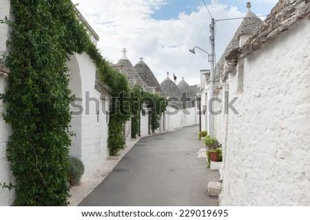 Alberobello, typical Trulli houses, Apulia, Italy - stock photo