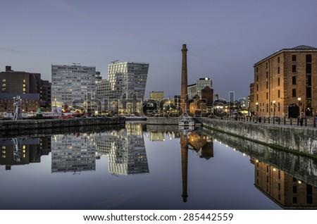 Albert Dock in Liverpool - stock photo