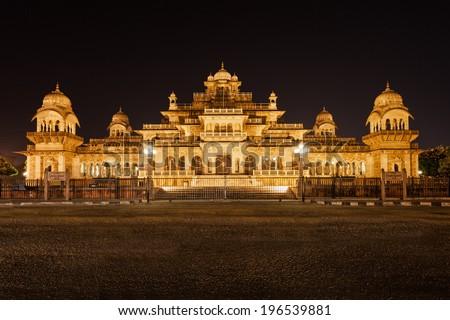 Albert Hall (Central Museum), Jaipur. It is located in Ram Niwas Garden in Jaipur - stock photo