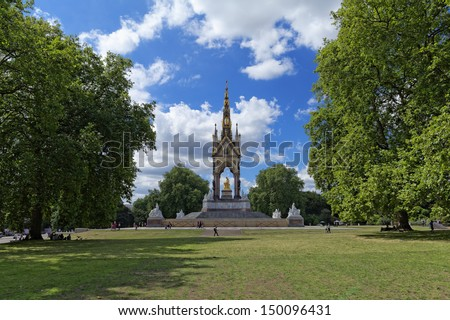 Albert prince memorial pictured in Hyde's Park (London) - stock photo