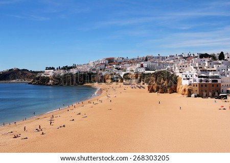 Albufeira- famous resort in the Algarve region, Portugal - stock photo