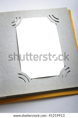 album for a photo - stock photo