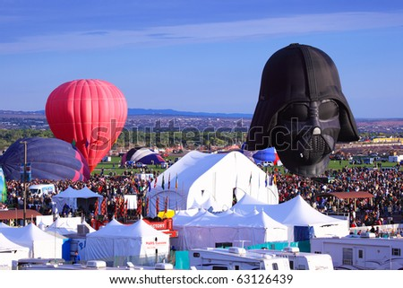 ALBUQUERQUE, USA - OCTOBER 3: International Balloon Fiesta , October 3, 2010 in Albuquerque, New Mexico, USA - stock photo