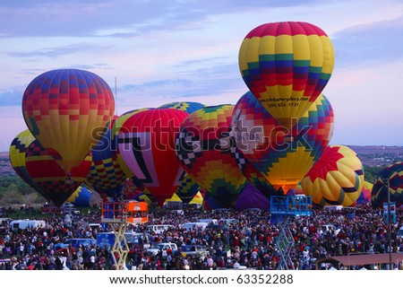 ALBUQUERQUE, USA - OCTOBER 3: International Balloon Fiesta , October 3, 2010 in Albuquerque, New Mexico, USA - stock photo