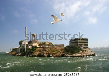Alcatraz island - stock photo