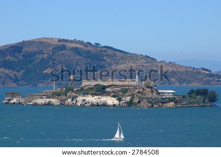 Cable Car Alcatraz Background San Francisco Stock Photo 942856 ...