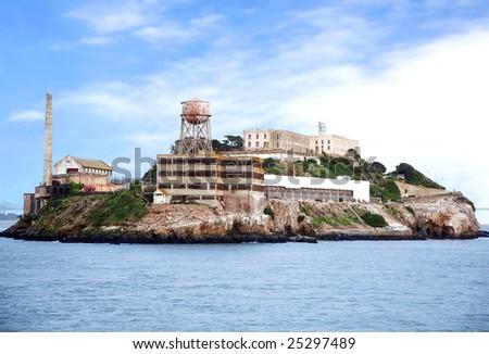 Alcatraz island famous prison in San Francisco - stock photo
