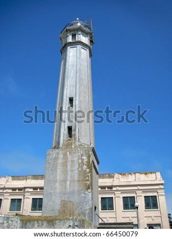 Alcatraz Island lighthouse - stock photo