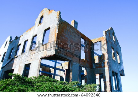 Alcatraz Jail ruins - stock photo
