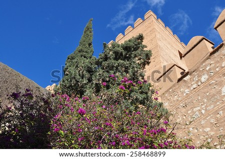 Alcazaba fortress in Almeria,Spain, - stock photo
