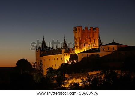 Alcazar, Castle in Segovia, Spain - stock photo