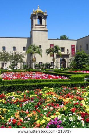 Alcazar Gardens, Balboa Park, San Diego, CA - stock photo
