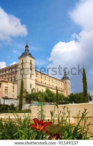 Alcazar in Toledo - stock photo