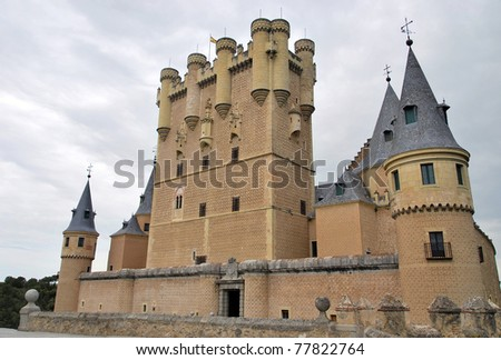Alcazar of Segovia. Stone fortification in Segovia. Spain