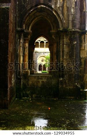 Alcobaca Monastery, Alcobaca, Portugal - stock photo
