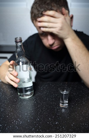 Alcohol abuse - stock photo