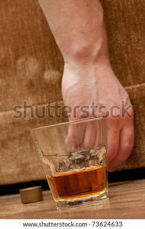 alcohol abuse concept image - stock photo