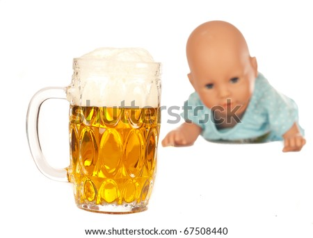 Alcohol abuse is a family problem - stock photo