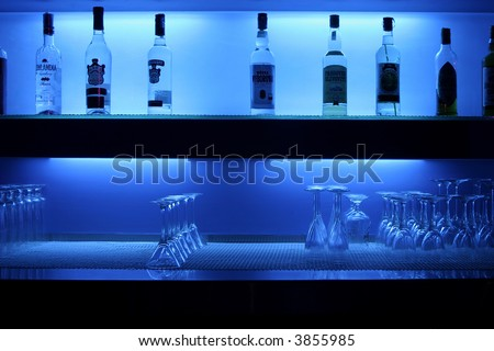 alcohol bar - stock photo