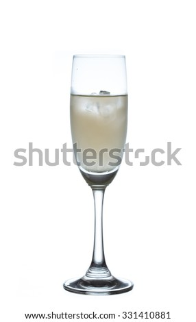 alcohol cocktail isolated on a white background