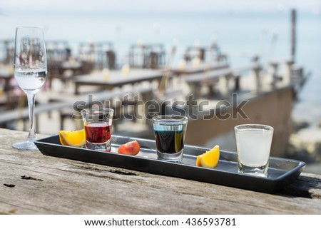 alcohol drink in bar - stock photo