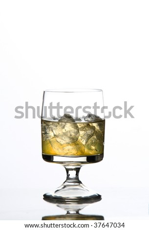 Alcohol drink with ice - stock photo