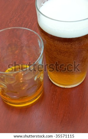 Alcohol on a bar - stock photo