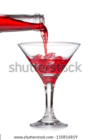 Alcohol pouring into a glass