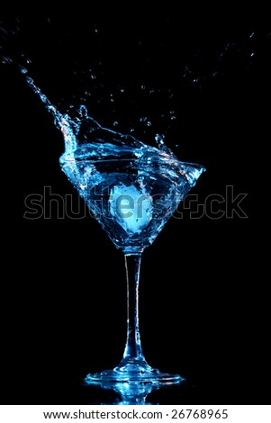 alcohol splash - stock photo