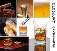 Alcoholic Beverage Collage made from seven photographs - stock photo