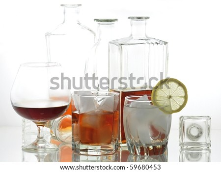 alcoholic beverages - stock photo