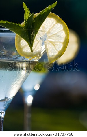 Alcoholic cocktail of martiny - stock photo