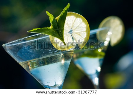 Alcoholic cocktail of martiny - stock photo
