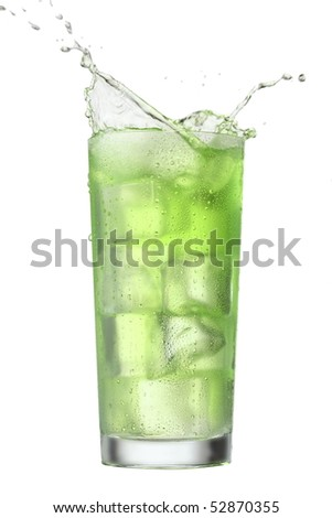 Alcoholic cocktail Splash isolated. Clipping path included. More beverages available - stock photo
